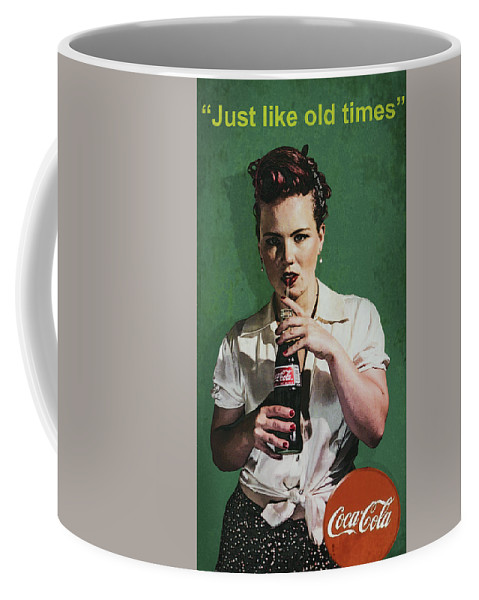 Just Like Old Times Coffee Mug featuring the photograph Just Like Old Times - Coca-cola by Alex Bearden