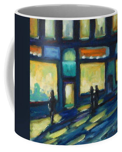 Town Coffee Mug featuring the painting Just Looking by Richard T Pranke