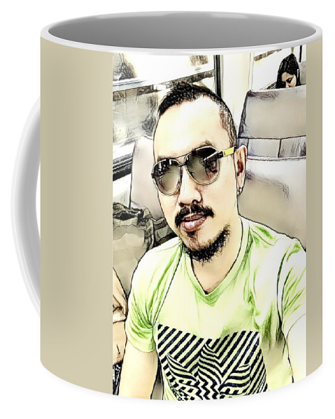 Digital Art And Mixed Media Coffee Mug featuring the digital art Just Me by Lawrence Allen