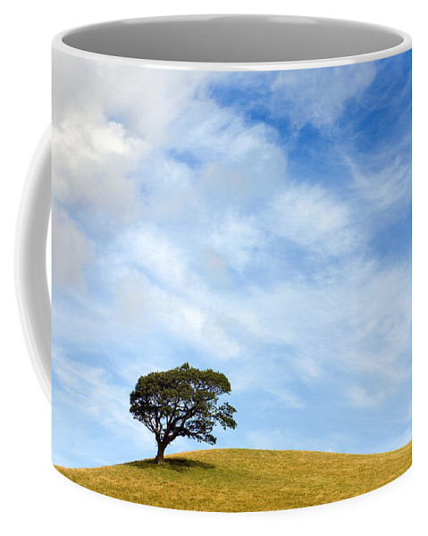 Landscape Coffee Mug featuring the photograph Just One Tree Hill by Mal Bray
