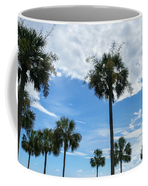 America Coffee Mug featuring the photograph Just Palm Trees by Jennifer White