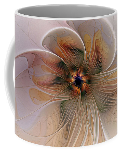 Digital Art Coffee Mug featuring the digital art Just Peachy by Amanda Moore