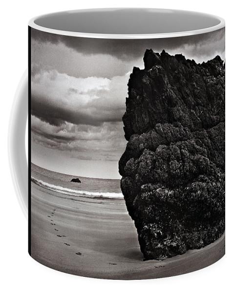 Monochrome Coffee Mug featuring the photograph Just Round The Corner by Sergio Bondioni
