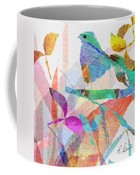 Bird Coffee Mug featuring the mixed media Just Sittin by Ruth Palmer