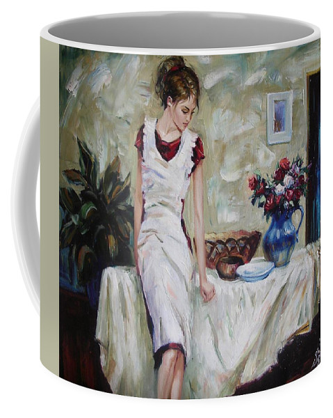 Figurative Coffee Mug featuring the painting Just The Next Day by Sergey Ignatenko