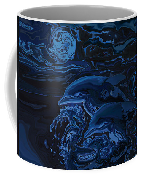Animal Coffee Mug featuring the digital art Just The Two Of Us by Rabi Khan