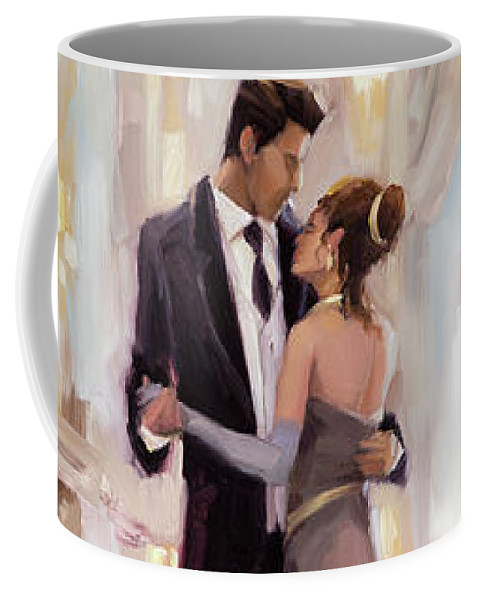 Romance Coffee Mug featuring the painting Just The Two Of Us by Steve Henderson