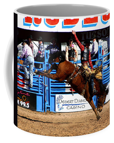 Rodeo. Rodeos Coffee Mug featuring the photograph Just Two More Seconds To Go by Joe Kozlowski