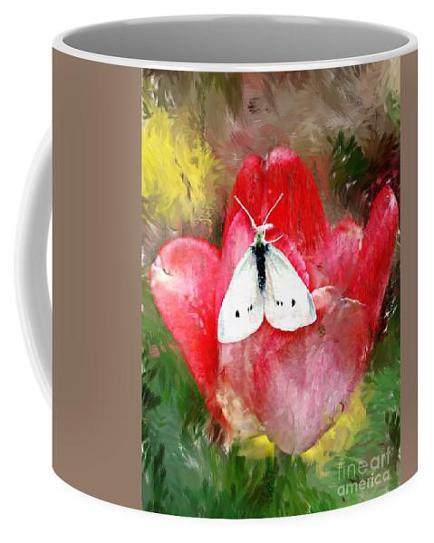 Digital Photo Coffee Mug featuring the photograph Just Visiting by David Lane