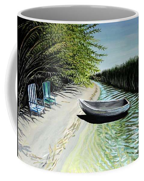 Boat Coffee Mug featuring the painting Just You And I by Elizabeth Robinette Tyndall
