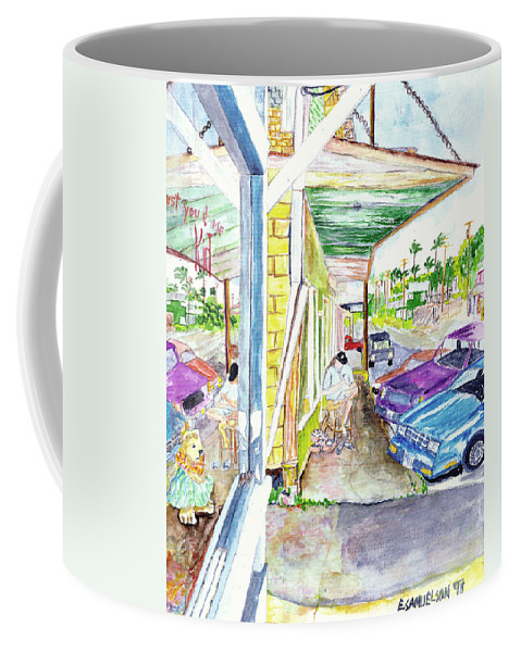 Paia Coffee Mug featuring the painting Just You And Me by Eric Samuelson