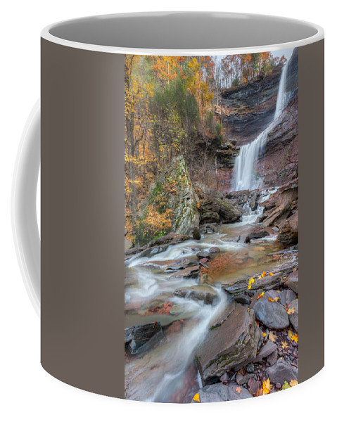 Kaaterskill Clove Coffee Mug featuring the photograph Kaaterskill Falls Autumn Portrait by Bill Wakeley