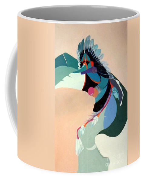Kachina Coffee Mug featuring the painting Kachina 2 by Marlene Burns