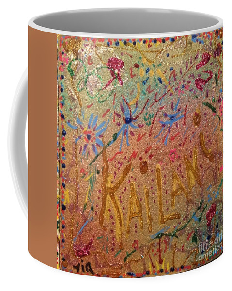 Sweet Sixteen Coffee Mug featuring the mixed media Kailani's Sweet Sixteen by Maria Pancheri