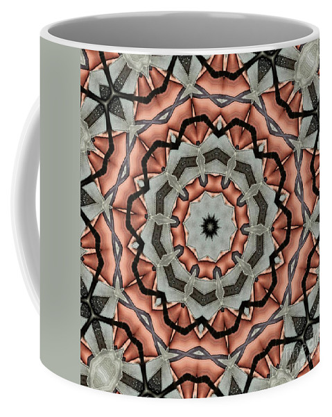 Kaleidoscope Coffee Mug featuring the digital art Kaleidoscope 127 by Ron Bissett