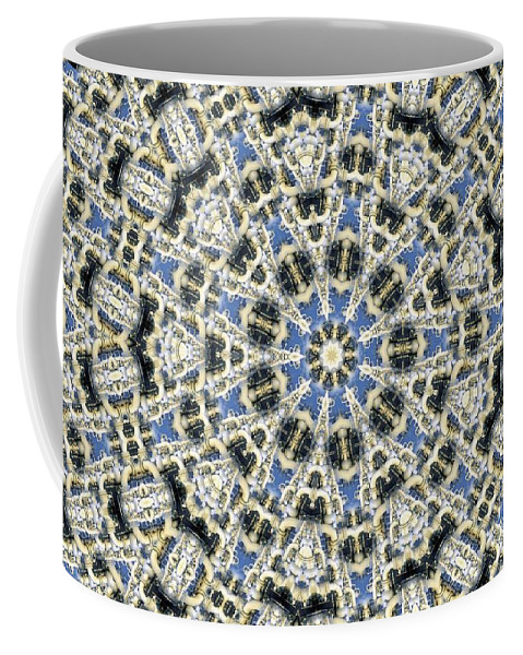 Kaleidoscope Coffee Mug featuring the digital art Kaleidoscope 78 by Ron Bissett