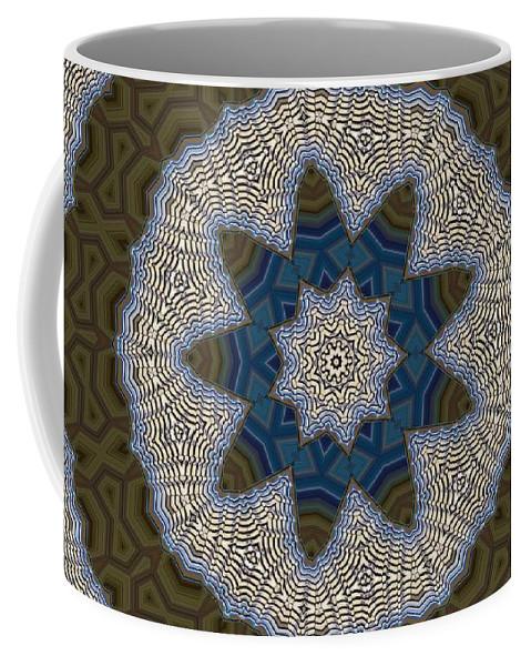 Kaleidoscope Coffee Mug featuring the digital art Kaleidoscope 87 by Ron Bissett