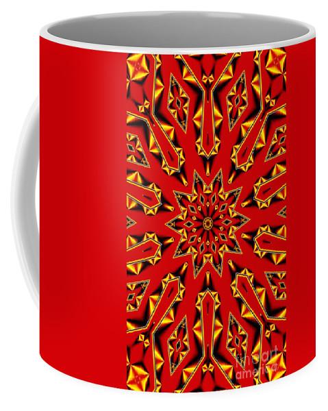 Kaleidoscope Coffee Mug featuring the digital art Kaleidoscope 89 by Ron Bissett