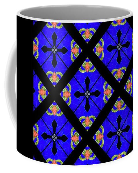 Digital Kaleidoscopes Coffee Mug featuring the photograph Kaleidoscopes-02 by David Lange