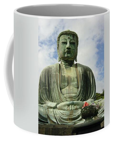 Buddha Coffee Mug featuring the photograph Kamakura Daibutsu by D Turner