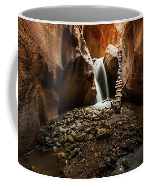 Kanarra Falls Coffee Mug featuring the photograph Kanarra Creek Falls by Justin Bowen