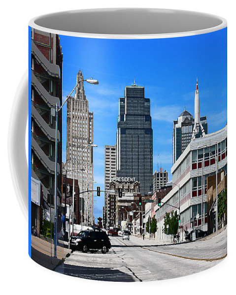 City Scape Coffee Mug featuring the photograph Kansas City Cross Roads by Steve Karol