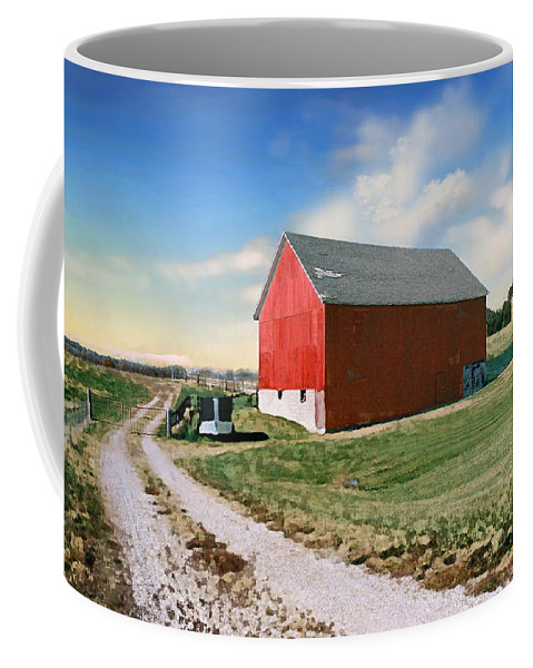 Barn Coffee Mug featuring the photograph Kansas Landscape II by Steve Karol