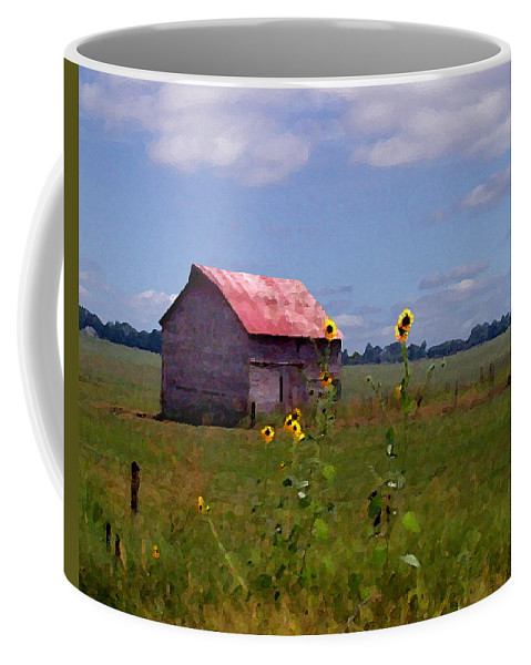 Lanscape Coffee Mug featuring the photograph Kansas Landscape by Steve Karol