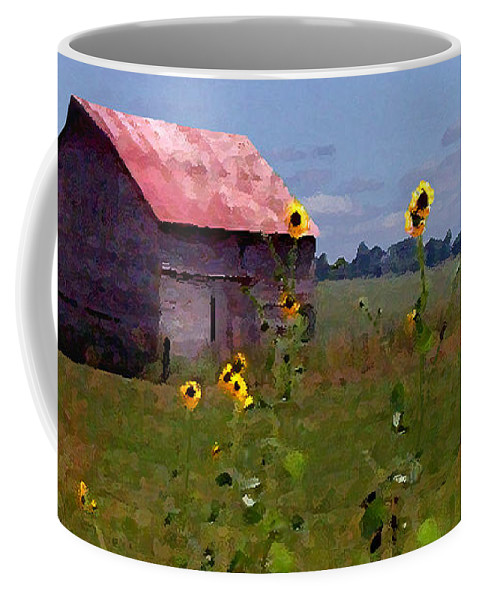 Landscape Coffee Mug featuring the photograph Kansas Landscape by Steve Karol