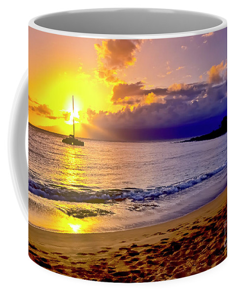 Scenics Coffee Mug featuring the photograph Kapalua Bay Sunset by Jim Cazel