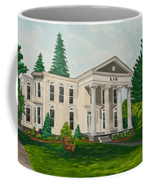 Colgate University History Coffee Mug featuring the painting Kappa Alpha Theta by Charlotte Blanchard