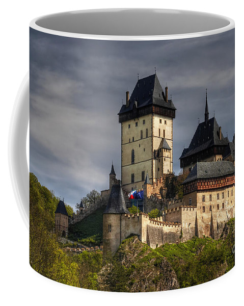 Karlstejn Coffee Mug featuring the photograph Karlstejn by Michal Boubin