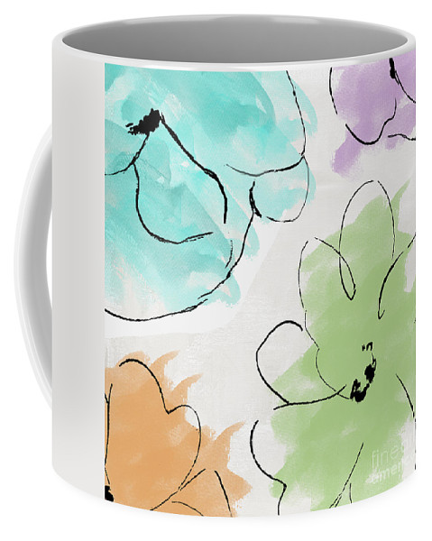 Abstract Coffee Mug featuring the painting Kasumi by Mindy Sommers