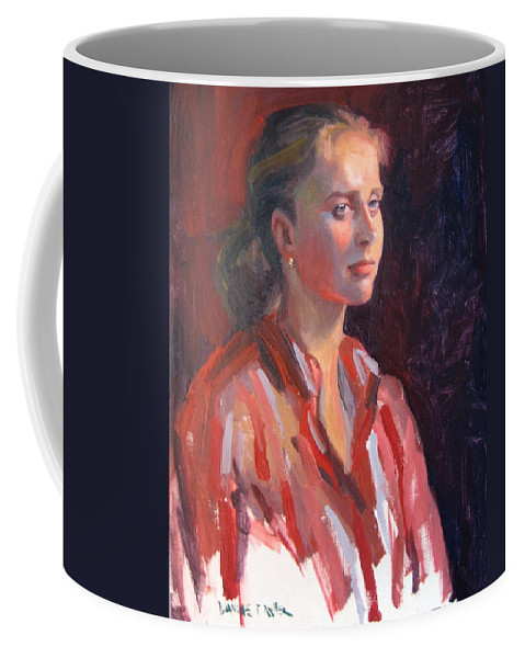 Portrait Coffee Mug featuring the painting Kate by Dianne Panarelli Miller