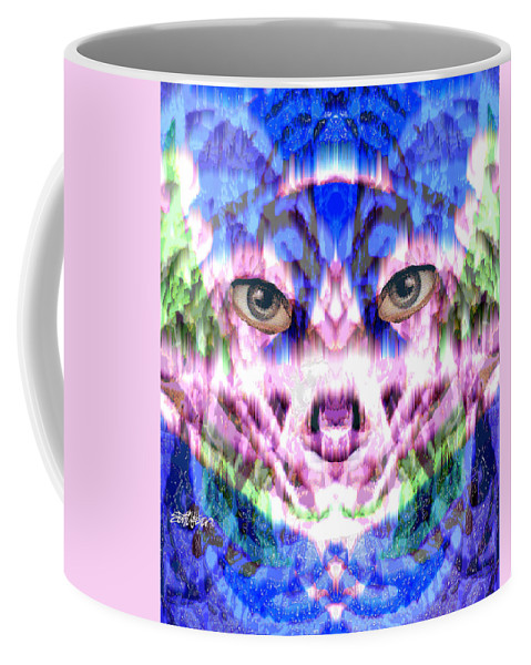 Cat Coffee Mug featuring the digital art Katechism by Seth Weaver