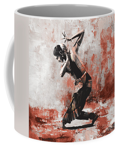 Dancer Coffee Mug featuring the painting Kathak Dancer by Gull G