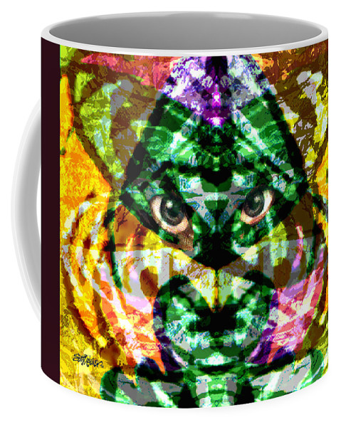 Abstract Coffee Mug featuring the digital art Katmandu by Seth Weaver
