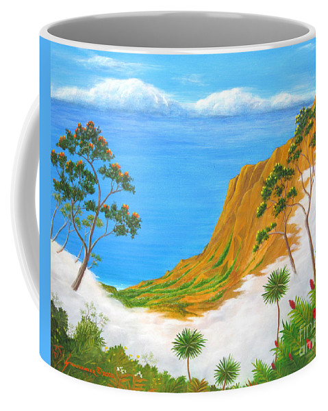 Landscape Coffee Mug featuring the painting Kauai Hawaii by Jerome Stumphauzer