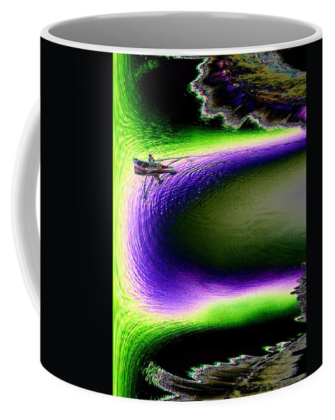 Seattle Coffee Mug featuring the digital art Kayak In The Cut by Tim Allen