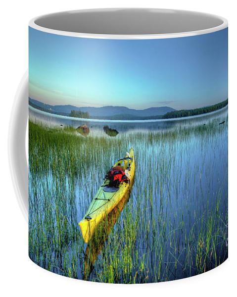 Kayaking Coffee Mug featuring the photograph Kayak Sunrise by John Sandiford
