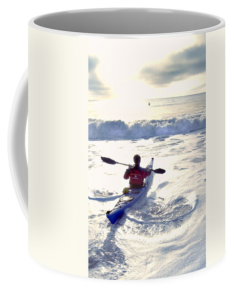 Kayaker Coffee Mug featuring the photograph Kayakers Sunrise by Robert Ponzoni