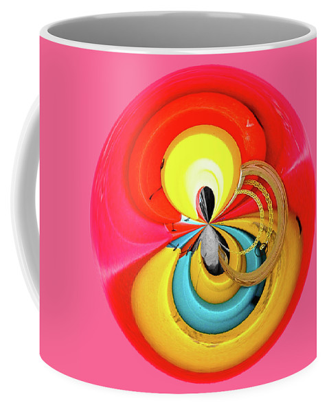 Red Coffee Mug featuring the photograph Kayaks Orb by Bill Barber