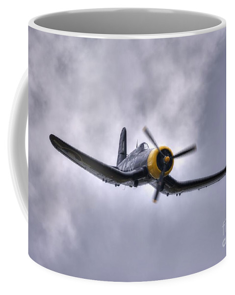 Corsair Coffee Mug featuring the digital art Kd 345 Corsair Iv by Nigel Bangert