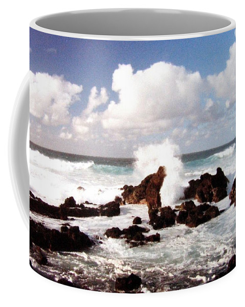 1986 Coffee Mug featuring the photograph Keanae Peninsula by Will Borden