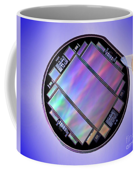 Science Coffee Mug featuring the photograph Keck Telescope Ccd Imager by Science Source