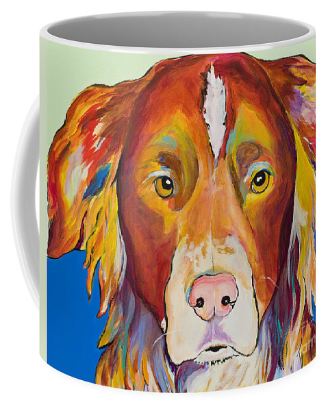 Australian Border Collie Coffee Mug featuring the painting Keef by Pat Saunders-White