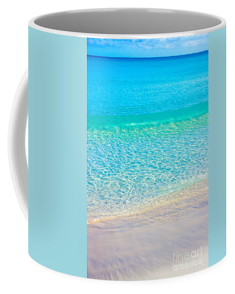 Blue Coffee Mug featuring the photograph Keep Calm And Listen To The Sea by Kris Hiemstra