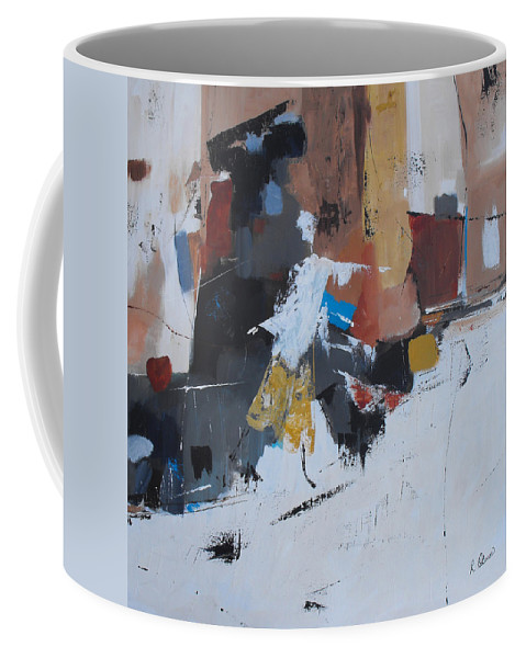 Abstract Coffee Mug featuring the painting Keep On Dancin' by Ruth Palmer