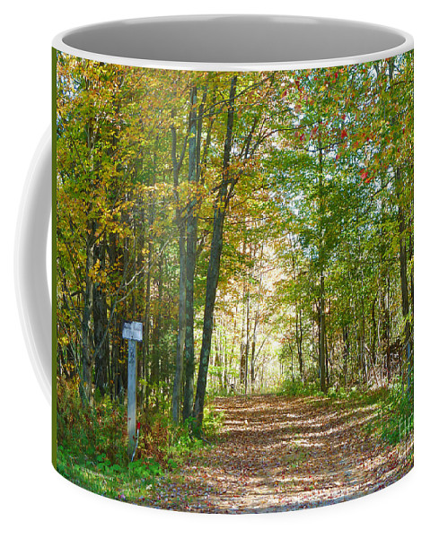 Autumn Coffee Mug featuring the photograph Keep Out by Deborah Benoit