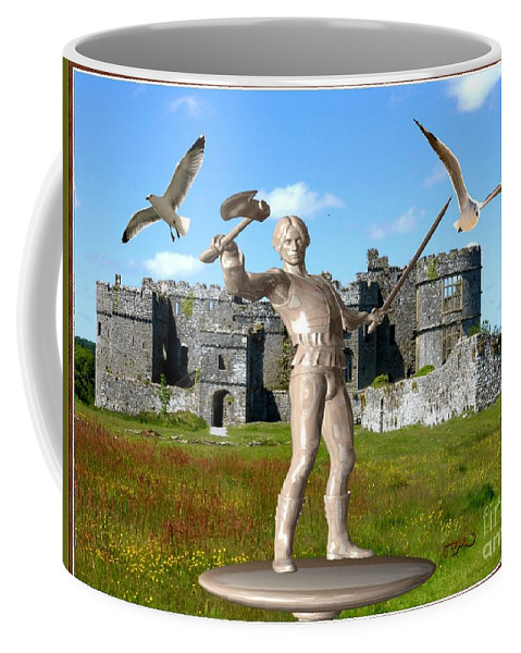 Modern Painting Coffee Mug featuring the mixed media Keeper Of The Castle 4 by Pemaro